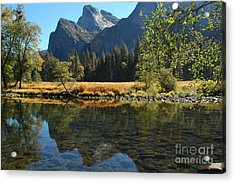 Acrylic Print featuring the photograph Reflections In Autumn by Johanne Peale