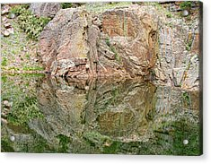 Reflections In The Colorado Rocky Mountains  Acrylic Print
