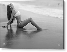 Reflections In Wet Sand Acrylic Print by Rick Berk