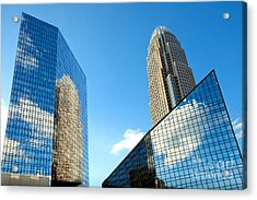 Reflections Of Bank Of America Tower Acrylic Print by Patrick Schneider