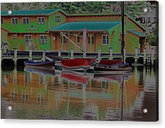 Reflections Of Color Acrylic Print by Carolyn Stagger Cokley