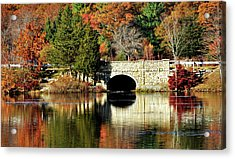 Reflections Of Fall Acrylic Print by Joanne Brown