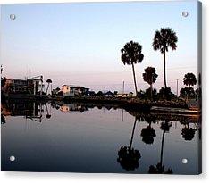 Reflections Of Keaton Beach Marina Acrylic Print by Marilyn Holkham