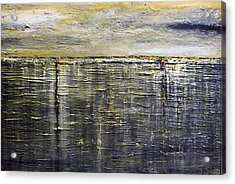 Acrylic Print featuring the painting Reflections Of Yesterday Series  by Dolores  Deal