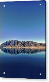 Reflections On Lake Hawea Acrylic Print by Verity E. Milligan