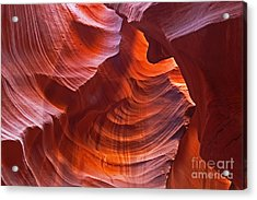 Reflections On The Rock Acrylic Print by Bob and Nancy Kendrick