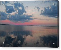 Reflections On The Sound Acrylic Print by Linda Mesibov