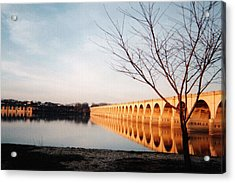 Reflections On The Susquehanna Acrylic Print by Ed Golden