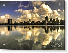 Reflections Over East Side  Acrylic Print by Rob Hawkins