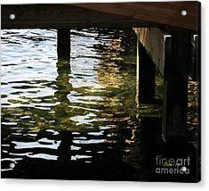Reflections Under Pier Acrylic Print