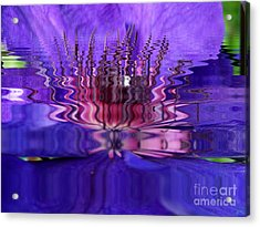 Reflets Acrylic Print by Sylvie Leandre