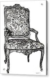 Regency Chair Acrylic Print by Adendorff Design