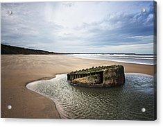 Reighton Sands Shore Acrylic Print by Svetlana Sewell