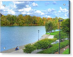 Acrylic Print featuring the photograph Relaxing At Hoyt Lake by Michael Frank Jr