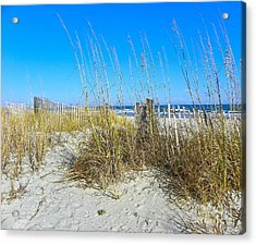 Acrylic Print featuring the photograph Relaxing By The Sea by Eve Spring