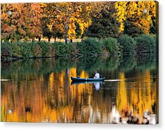 Relaxing Fall Acrylic Print by Greg Sharpe