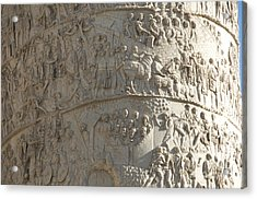 Relief. Detail View Of The Trajan Column. Rome Acrylic Print