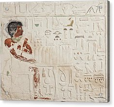 Relief Of Ka-aper With Offerings - Old Kingdom Acrylic Print by Egyptian fourth Dynasty
