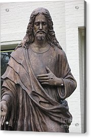 Religious Jesus Statue - Christian Art Acrylic Print by Kathy Fornal