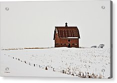 Acrylic Print featuring the photograph Remaining Barn by Edward Peterson