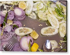 Remains Of A Salad After A Hearty Meal Acrylic Print by Ashish Agarwal