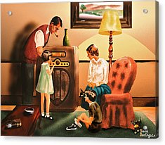 Remember When We Listened To The Radio Acrylic Print by Frank SantAgata