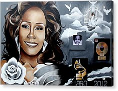 Remembering Whitney Acrylic Print by Alonzo Butler
