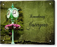 Remembering Yesteryear Acrylic Print by Trudy Wilkerson