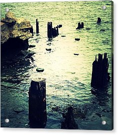 Remnants Of A Dock Acrylic Print