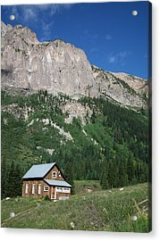 Remote Cabin Acrylic Print by Linda Koester