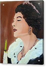 Acrylic Print featuring the painting Renata by Lisa Brandel
