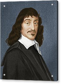 Rene Descartes, French Philosopher Acrylic Print by Maria Platt-evans