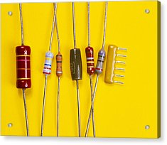 Resistors Acrylic Print by Andrew Lambert Photography