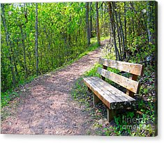 Rest Stop Acrylic Print by Jim Sauchyn