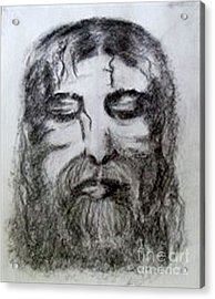 Acrylic Print featuring the drawing Resting A Weary Soul by Lori  Lovetere