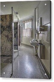 Restroom Stalls Circa 1927 Upscale Acrylic Print by Douglas Orton