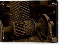 Retired Mining Machine Acrylic Print by Jephyr Art