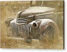 Retired Truck Circa 1924 Acrylic Print
