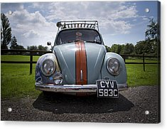 Retro Beetle 2 Acrylic Print by Dan Livingstone