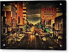 Retro College Avenue Acrylic Print