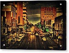 Retro College Avenue Acrylic Print by Joel Witmeyer