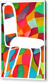 Retro Dinette Chair Acrylic Print by Paula Ayers