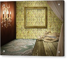 Retro Room Interior Acrylic Print