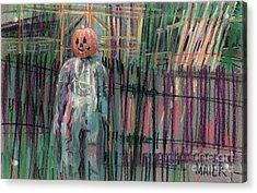 Return Of Pumpkinhead Man Acrylic Print by Donald Maier