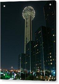 Reunion Tower By Night Acrylic Print by John Kain