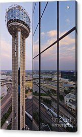 Reunion Tower Acrylic Print by Jeremy Woodhouse