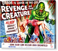 Revenge Of The Creature, Lori Nelson Acrylic Print by Everett