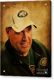 Rex Ryan - New York Jets Acrylic Print by Lee Dos Santos