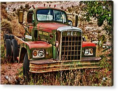 Acrylic Print featuring the photograph Rex The Truck by James Bethanis
