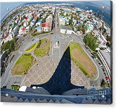 Reykjavik Iceland - Aerial View Acrylic Print by Gregory Dyer